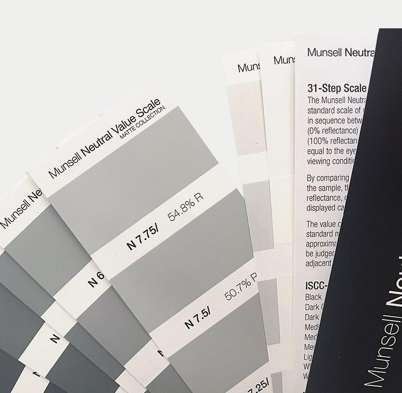 Munsell Neutral Value Scale - Matte Finish